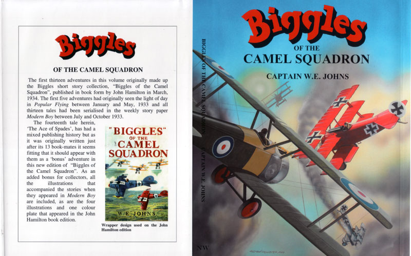 Biggles of the Camel Squadron - Dustjacket of 03-31
