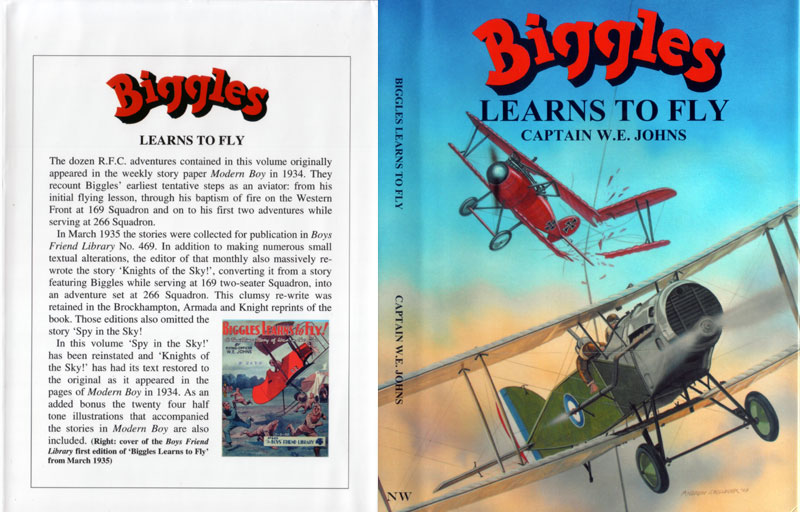 Biggles Learns To Fly - Dustjacket of 05-14
