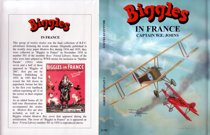 Biggles in France - Dustjacket of 09-04