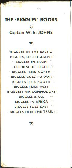 Biggles Goes To War - Front flap of 15-02