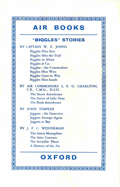 Biggles in Spain - Rear cover of 17-01