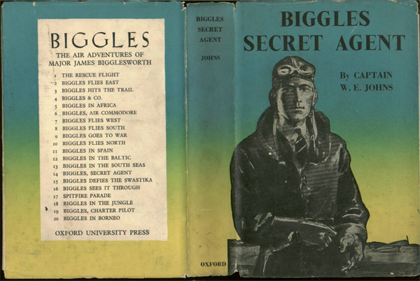 Biggles Secret Agent - Dustjacket of 19-08