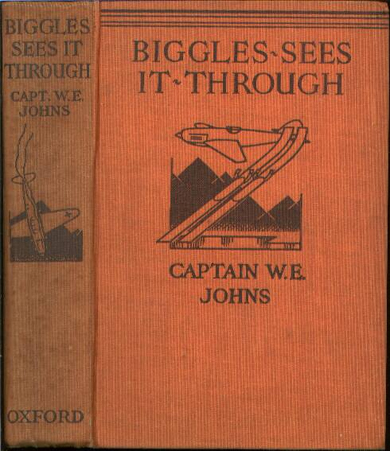Biggles Sees It Through - Binding of 23-02