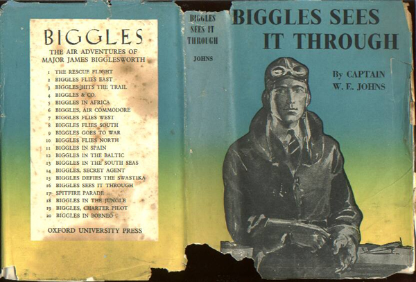 Biggles Sees It Through - Dustjacket of 23-07