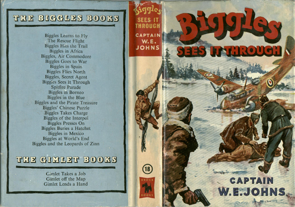 Biggles Sees It Through - Dustjacket of 23-08