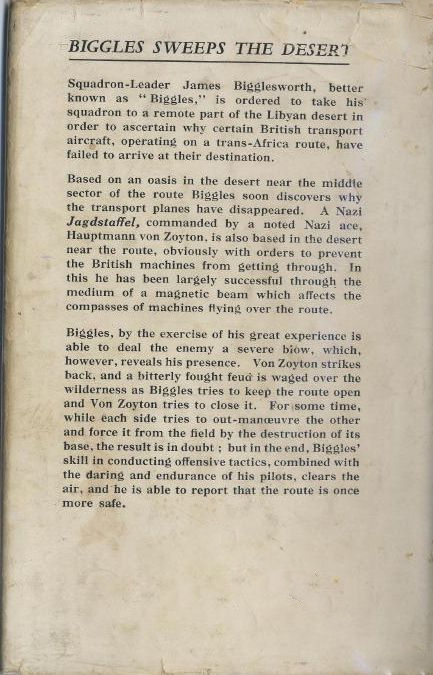 Biggles Sweeps the Desert - Rear cover of 26-01