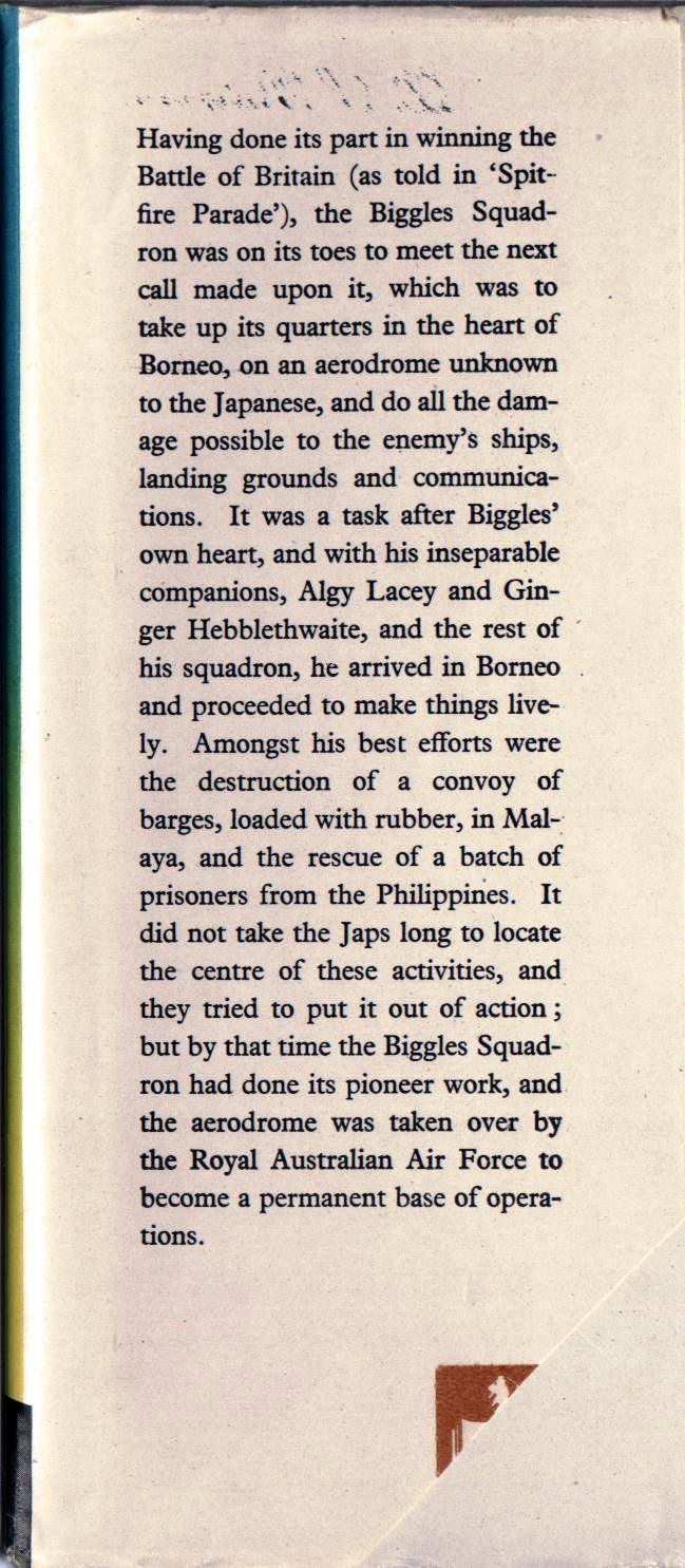 Biggles in Borneo - Front flap of 28-05