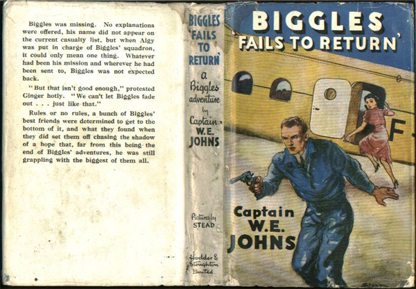Biggles Fails To Return - Dustjacket of 29-02
