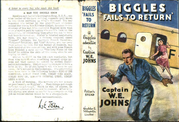 Biggles Fails To Return - Dustjacket of 29-04