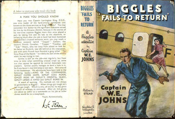 Biggles Fails To Return - Dustjacket of 29-05
