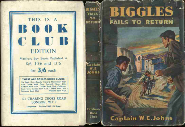 Biggles Fails To Return - Dustjacket of 29-06