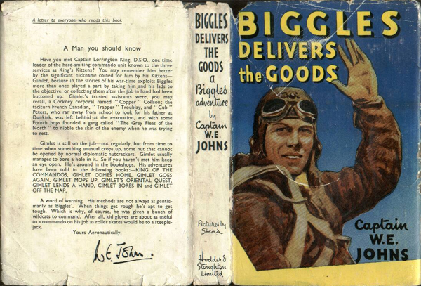 Biggles Delivers the Goods - Dustjacket of 31-05