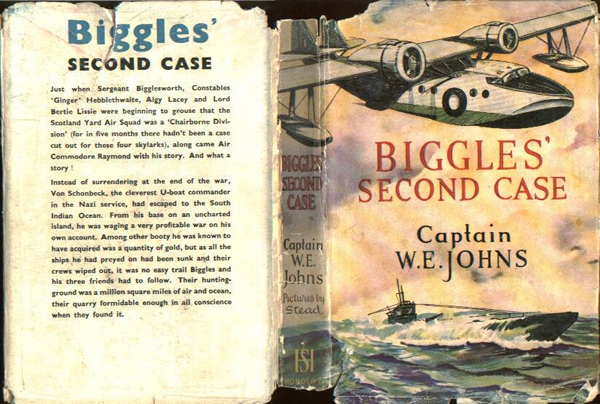 Biggles Second Case - Dustjacket of 33-01