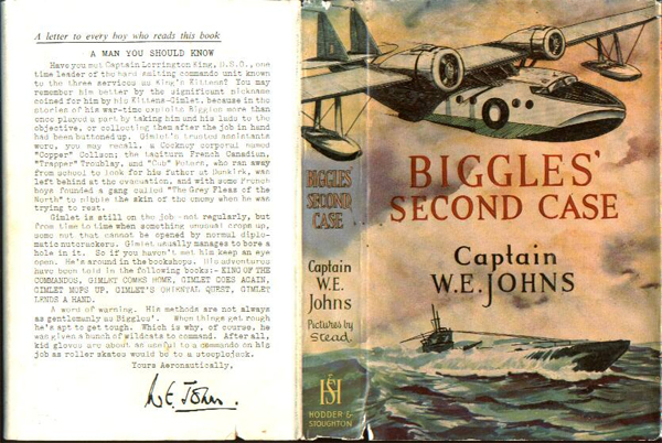 Biggles Second Case - Dustjacket of 33-03