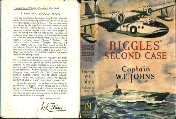 Biggles Second Case - Dustjacket of 33-04