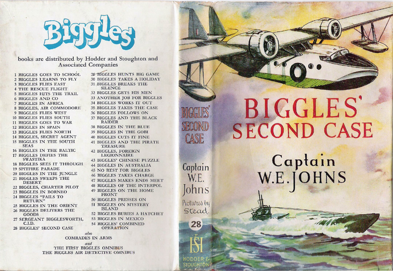 Biggles Second Case - Dustjacket of 33-07