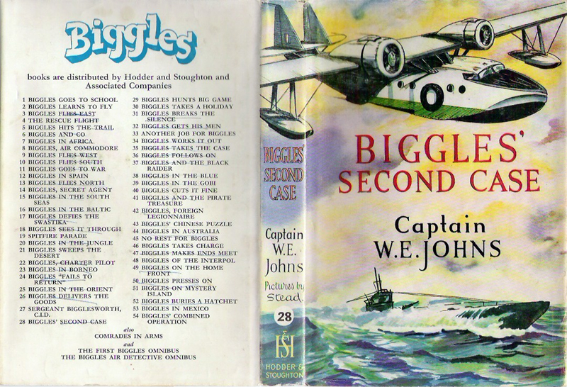 Biggles Second Case - Dustjacket of 33-08