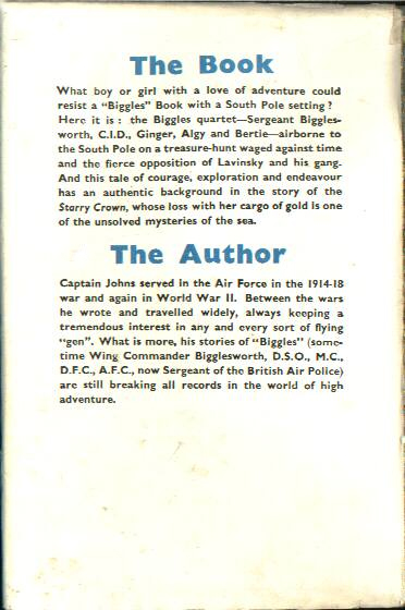 Biggles Breaks the Silence - Dustjacket back of 36-01