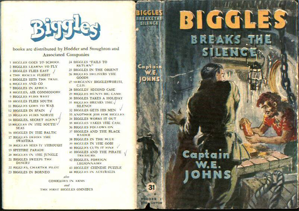 Biggles Breaks the Silence - Dustjacket of 36-05