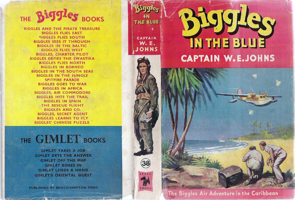 Biggles in the Blue - Dustjacket of 45-03