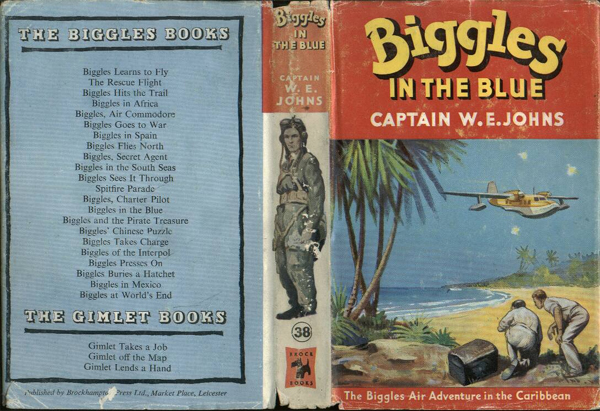 Biggles in the Blue - Dustjacket of 45-04