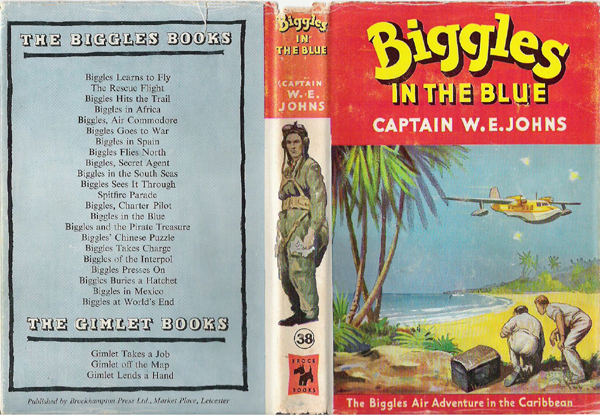 Biggles in the Blue - Dustjacket of 45-05