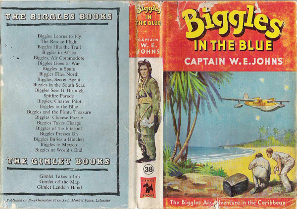 Biggles in the Blue - Dustjacket of 45-06
