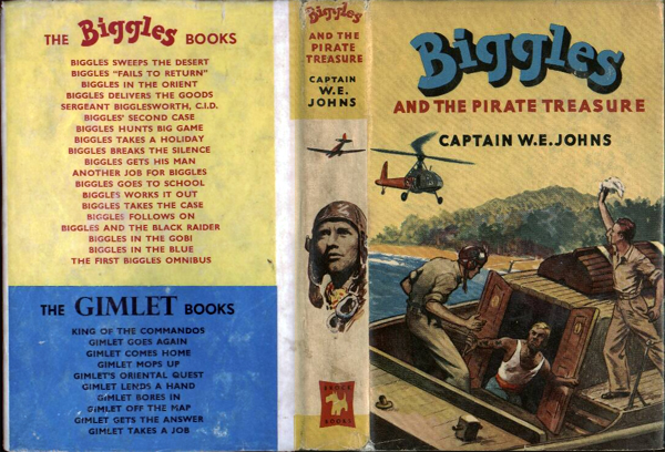 Biggles and the Pirate Treasure - Dustjacket of 49-01