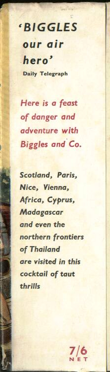Biggles and the Pirate Treasure - Front flap of 49-01