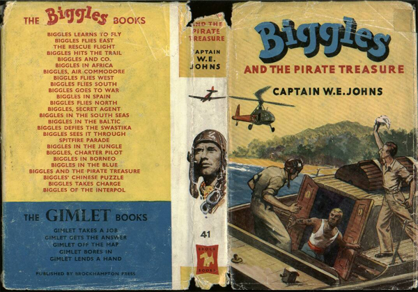 Biggles and the Pirate Treasure - Dustjacket of 49-02
