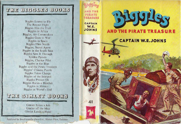 Biggles and the Pirate Treasure - Dustjacket of 49-03