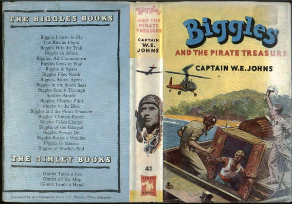 Biggles and the Pirate Treasure - Dustjacket of 49-04