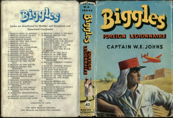 Biggles Foreign Legionnaire - Dustjacket of 50-05