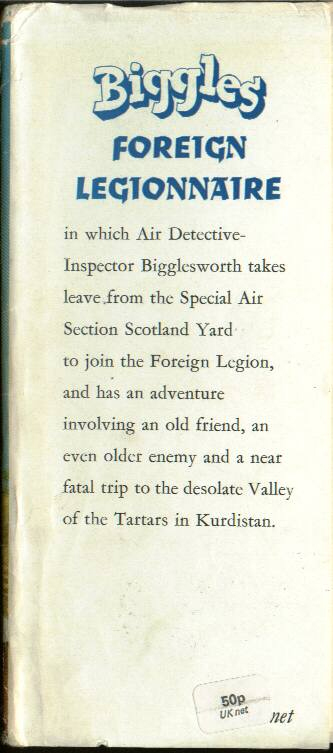 Biggles Foreign Legionnaire - Front flap of 50-05