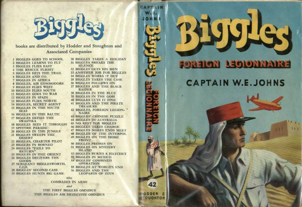Biggles Foreign Legionnaire - Dustjacket of 50-07