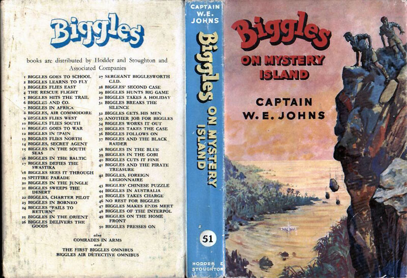 Biggles on Mystery Island - Dust jacket of 61-01