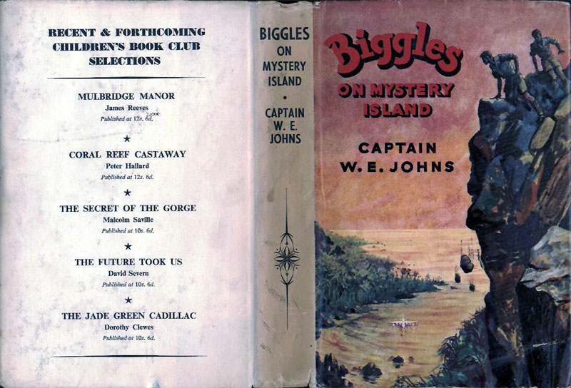 Biggles on Mystery Island - Dust jacket of 61-02