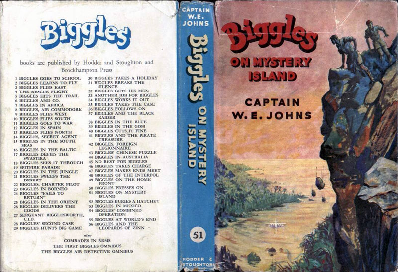 Biggles on Mystery Island - Dust jacket of 61-03