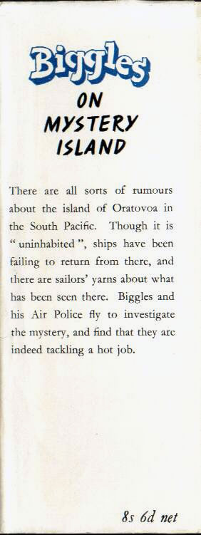 Biggles on Mystery Island - Front flap of 61-03