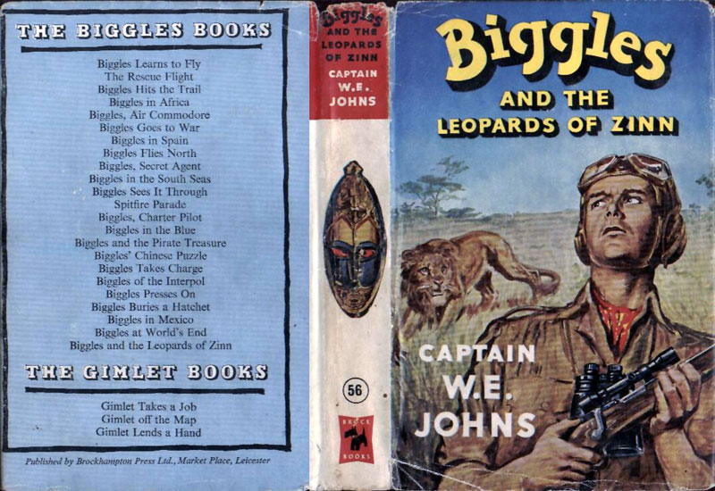Biggles and the Leopards of Zinn - Dustjacket of 66-01