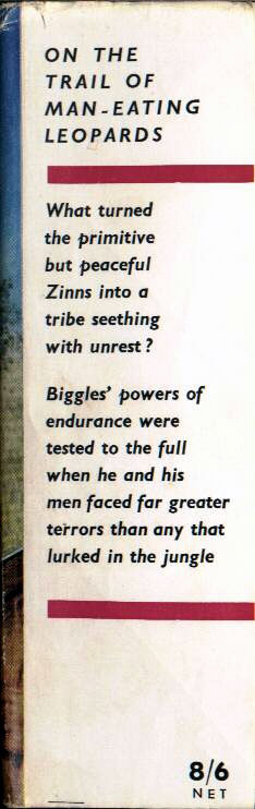 Biggles and the Leopards of Zinn - Front flap of 66-01