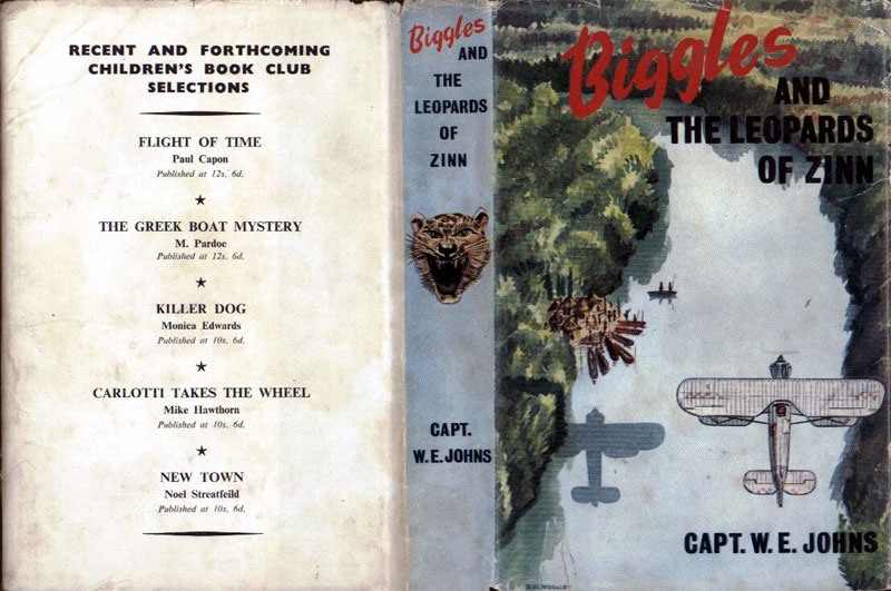 Biggles and the Leopards of Zinn - Dustjacket of 66-03