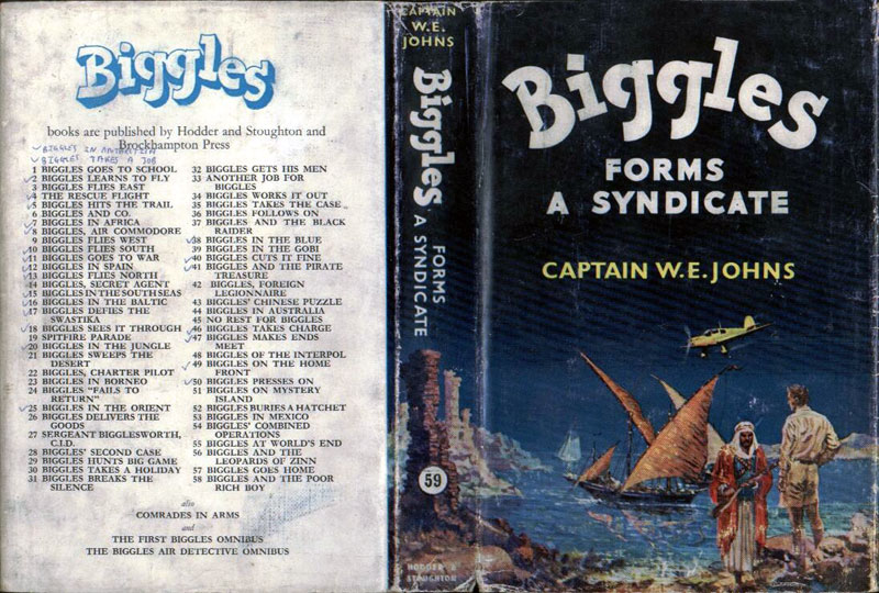 Biggles Forms a Syndicate - Dustjacket of 69-01