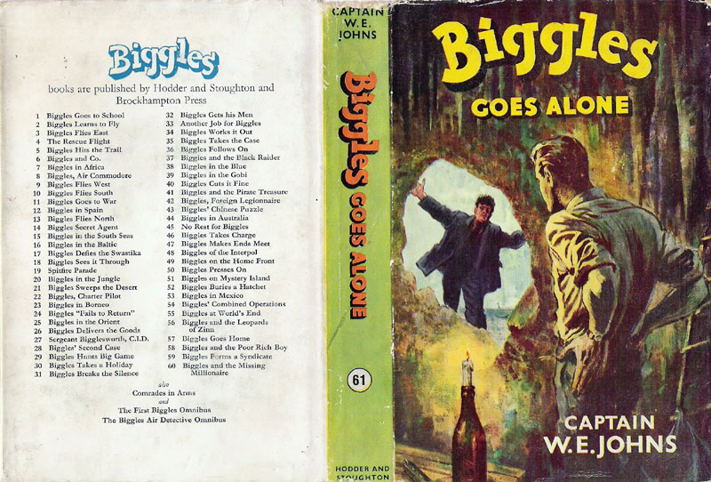 Biggles Goes Alone - Dust jacket of 71-01