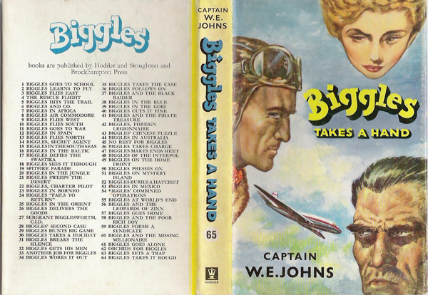 Biggles Takes a Hand - Dustjacket of 75-01