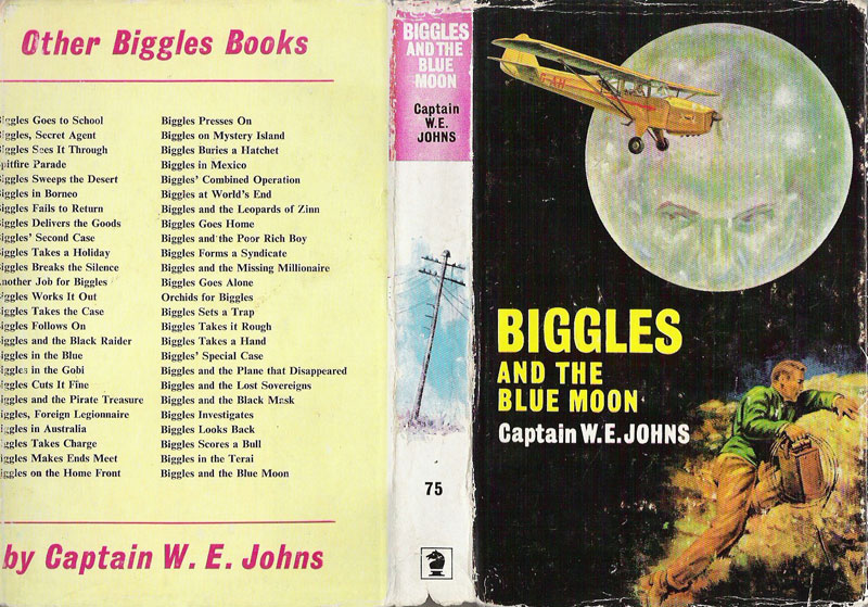 Biggles and the Blue Moon - Dust jacket of 84-01