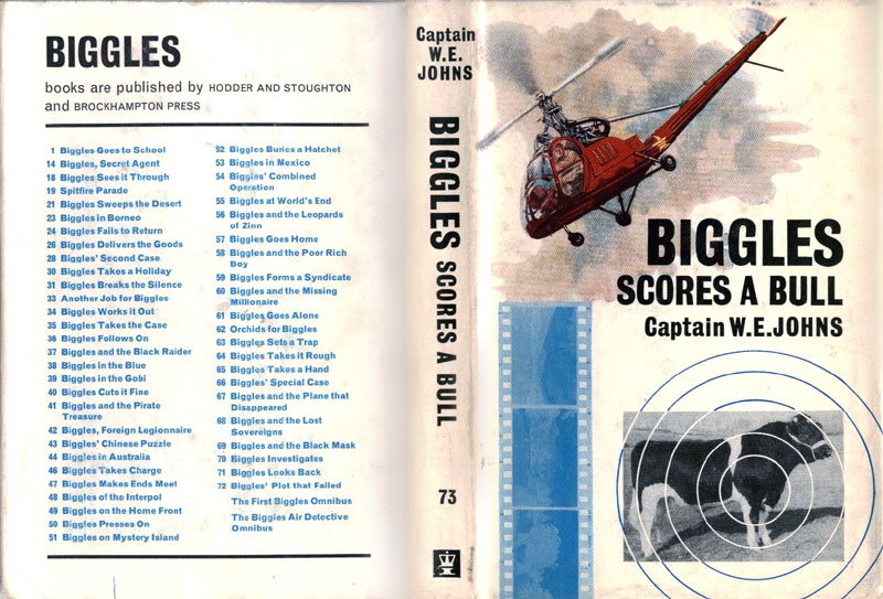 Biggles Scores a Bull - Dust jacket of 85-01