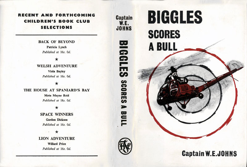 Biggles Scores a Bull - Dust jacket of 85-03
