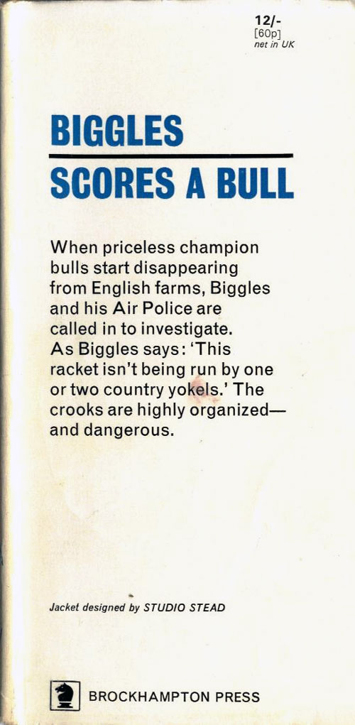 Biggles Scores a Bull - Front flap of 85-04