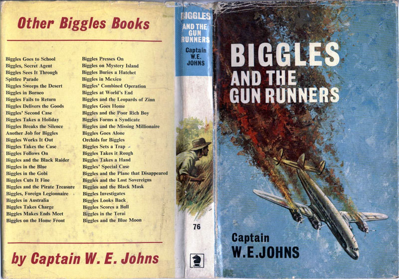 Biggles and the Gun Runners - Dust jacket of 87-03